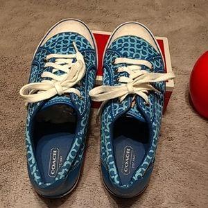 Authentic Coach Barrett blue/white sneaker , s- 7B